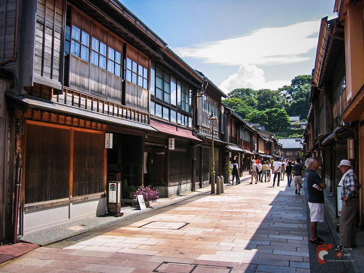 Le quartier Higashi Chaya à Kanazawa