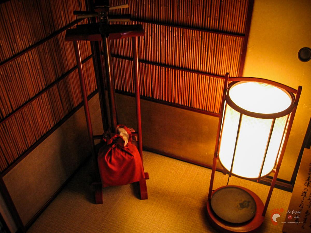 Intérieur de la maison de thé Shima