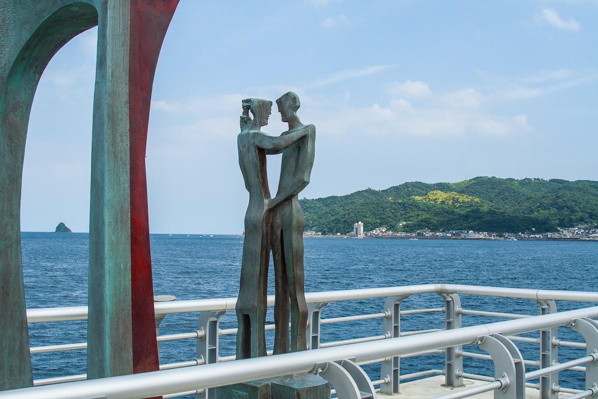 Sur le jetée du Itô Marine Town