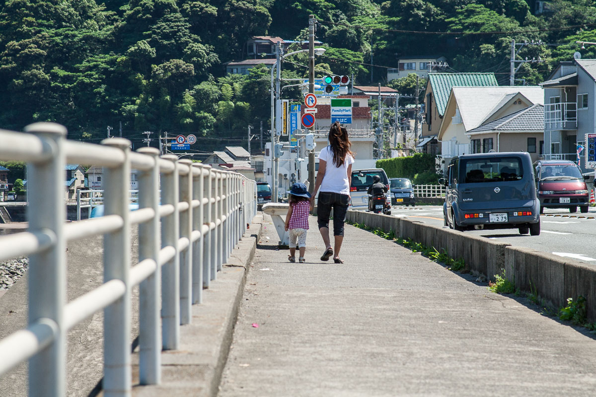 Sur le bord de mer d'Usami