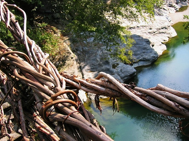 Le pont Kazura-bashi de la vallée d'Iya