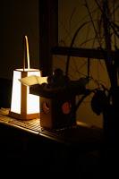 La propriété de Sankeien de nuit