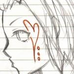Dessin d'une lycéenne japonaise