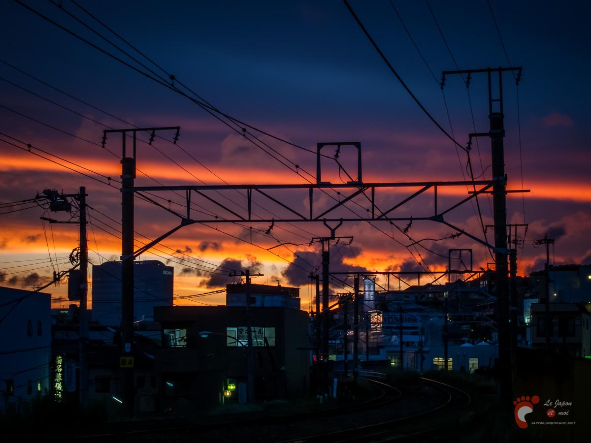 Coucher de soleil sur Yokohama - Canon S90