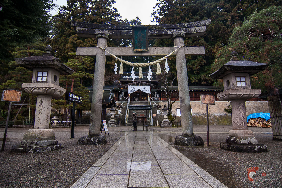 Takayama - Deuxième torii de Sakurayama Hachimangû
