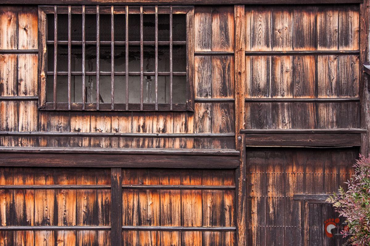 Takayama - Détails de façade aux alentours du pont Chidori-bashi