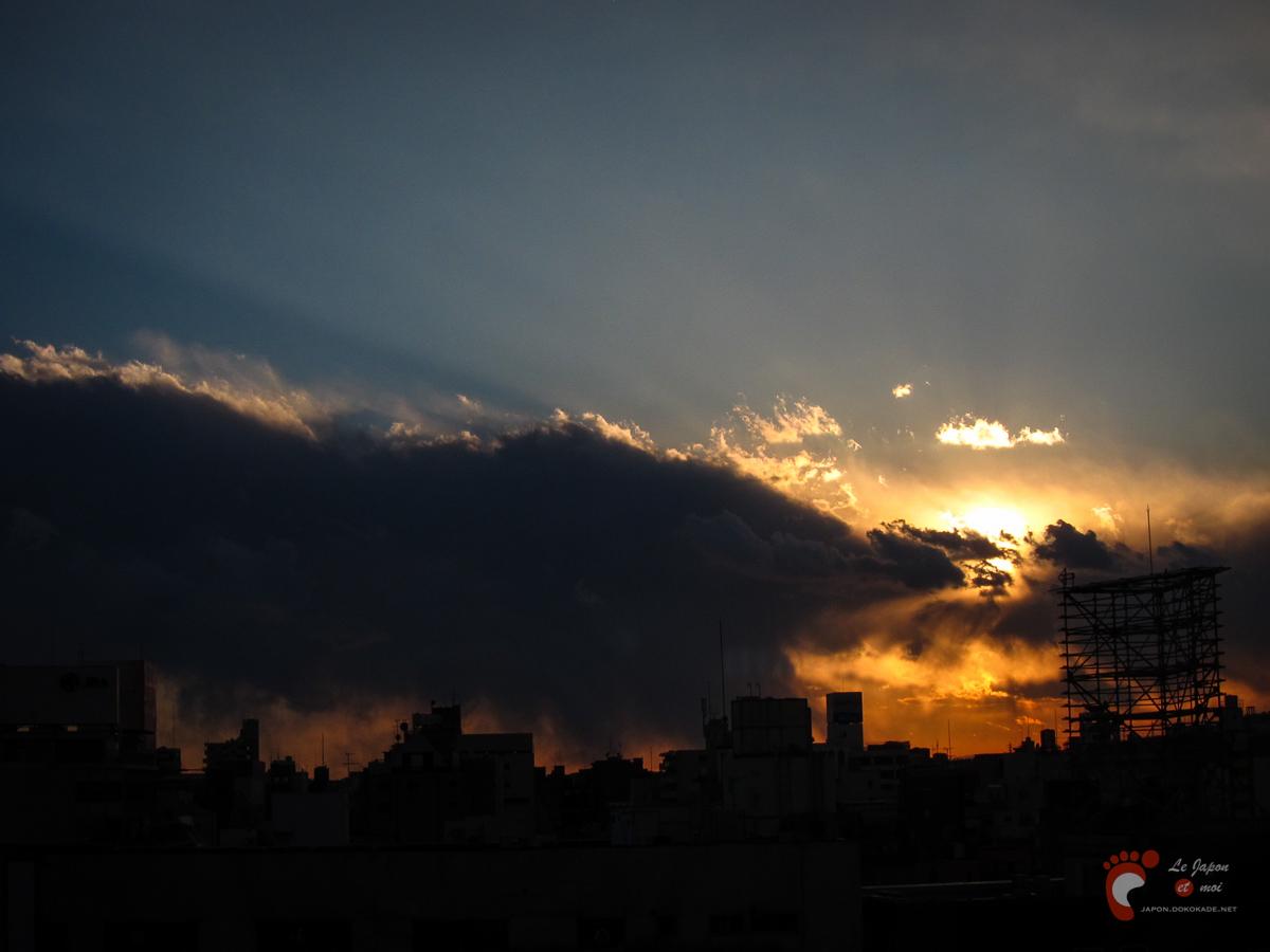 Yokohama - Coucher de soleil à Kannai
