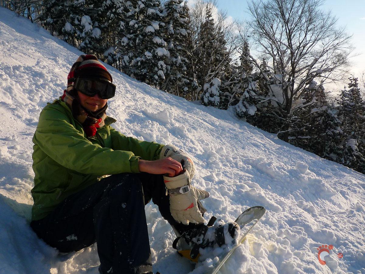 Ski à Nozawa Onsen : une de nos compagnons de glisse