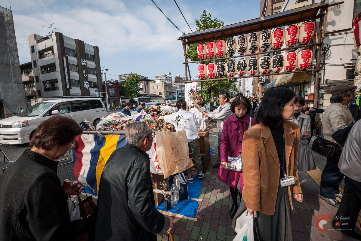 Marché de Tori-no-Ichi à Asakusa
