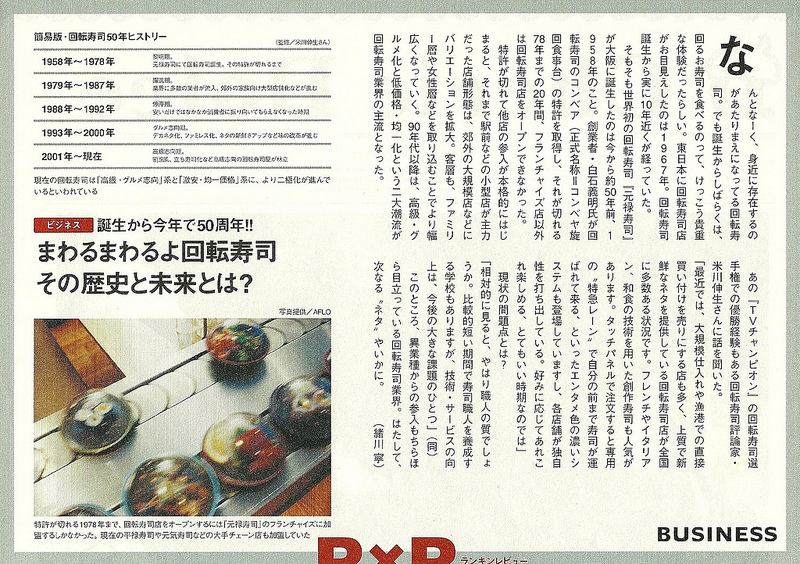 Article Kaiten-zushi