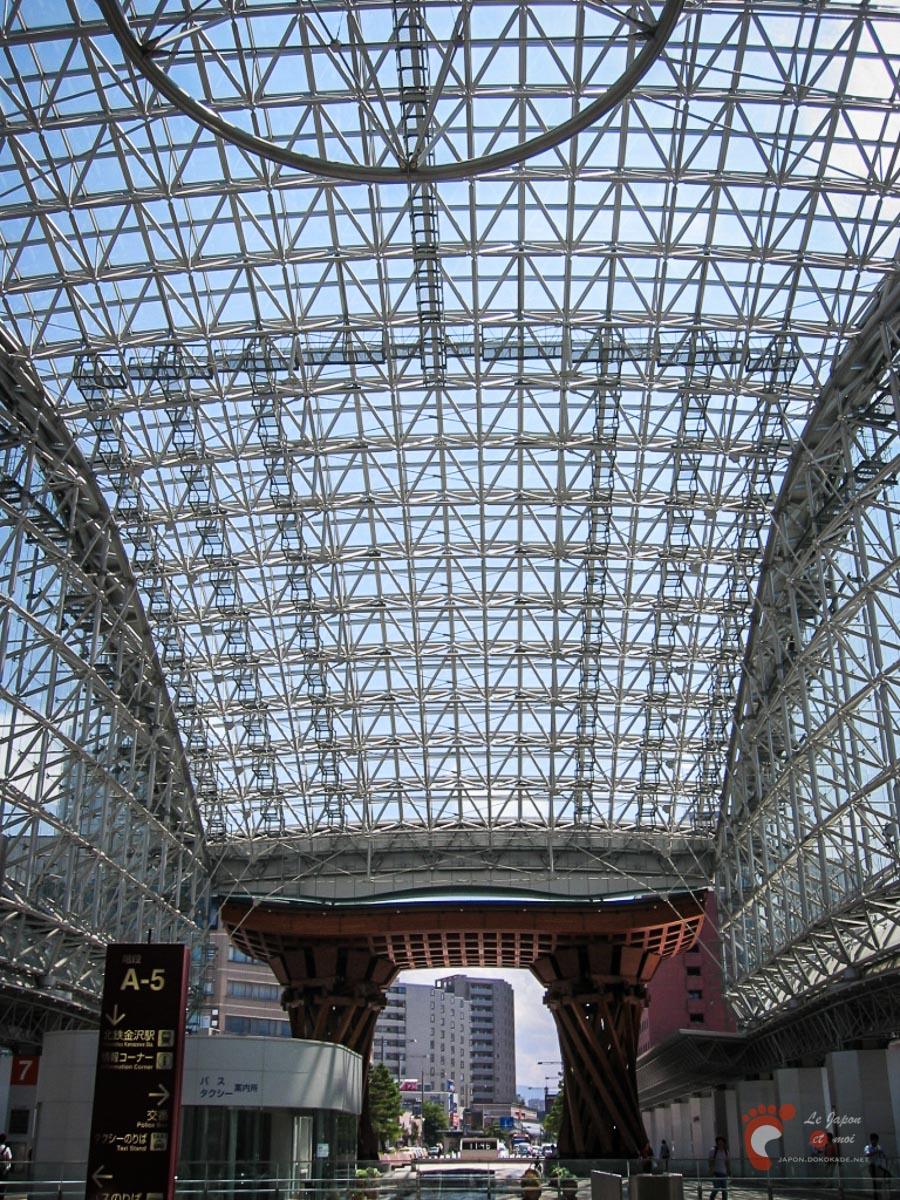 Gare de Kanazawa - Le dôme Motenashi