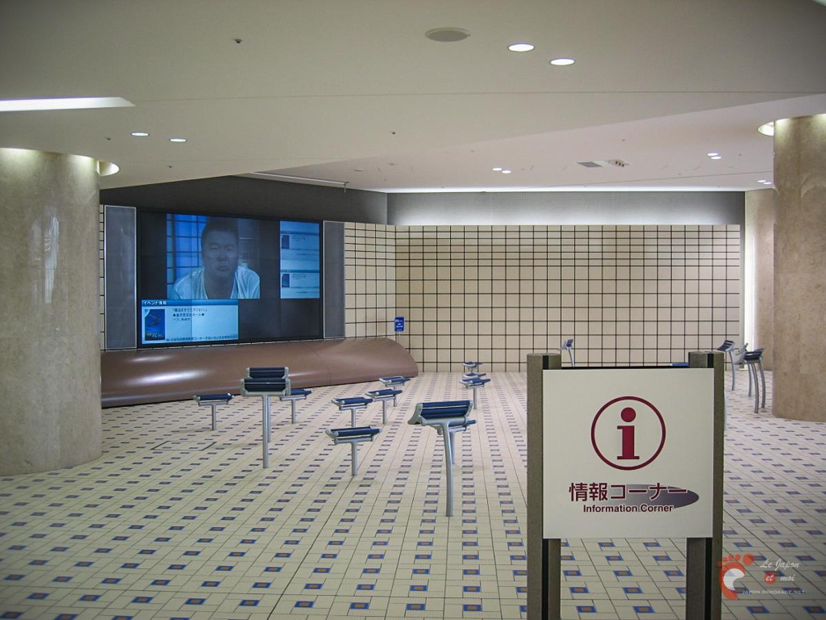 Gare de Kanazawa - Les espaces en sous-sol