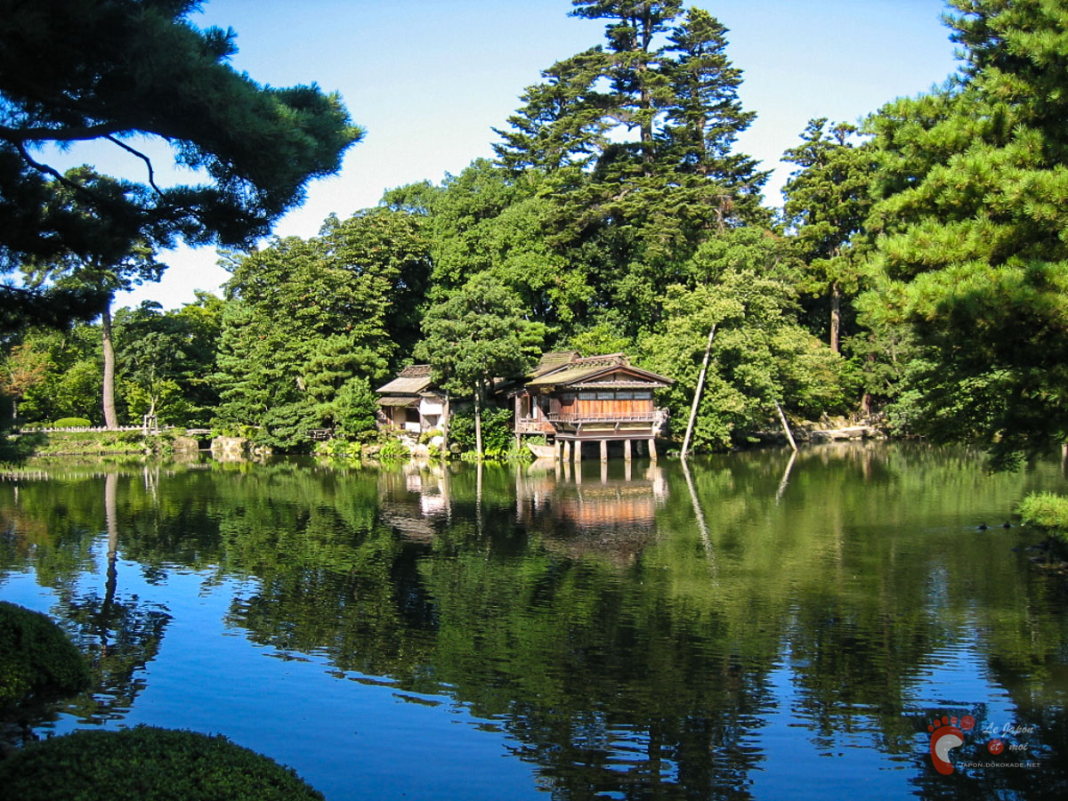 Parc kenrokuen kanazawa dokokade japon for Jardin kenrokuen