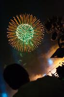 Feu d'artifice pour la commémoration de l'ouverture du port de Yokohama - 2007
