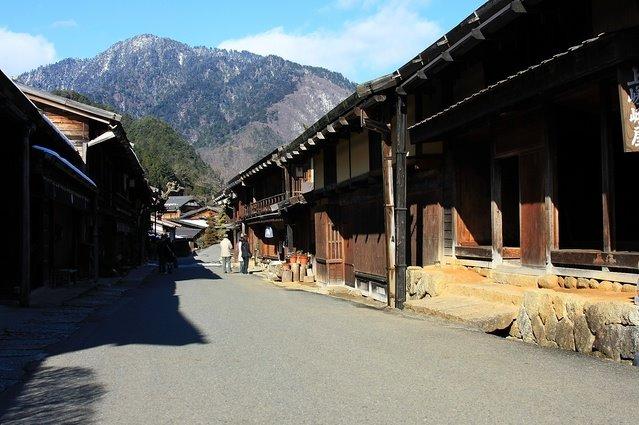 Le relais de Tsumago sur la Nakasendô