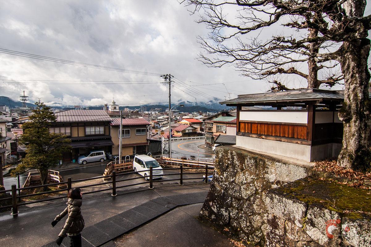 Takayama - Vue sur la ville et les montagnes environnantes depuis Sôgen-ji