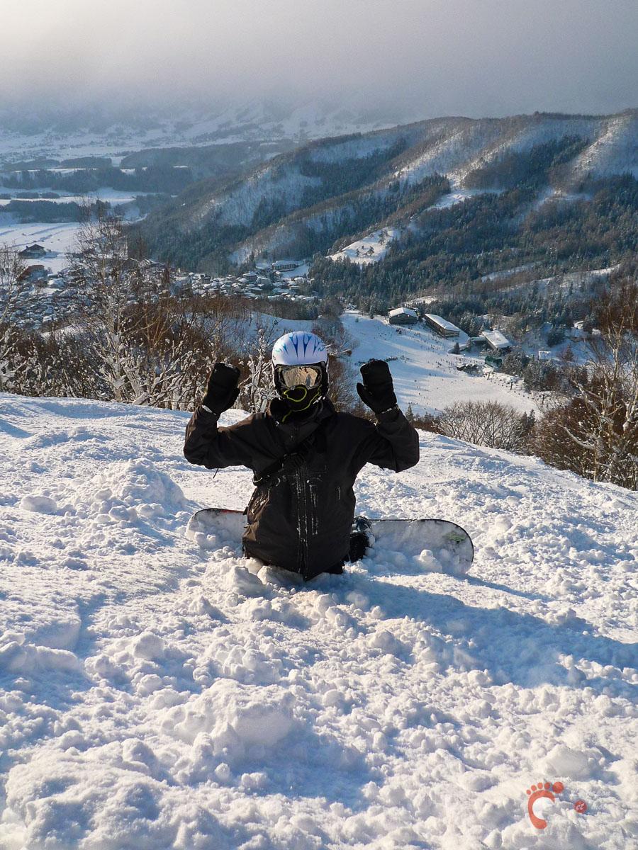 Ski à Nozawa Onsen : un de nos compagnons de glisse