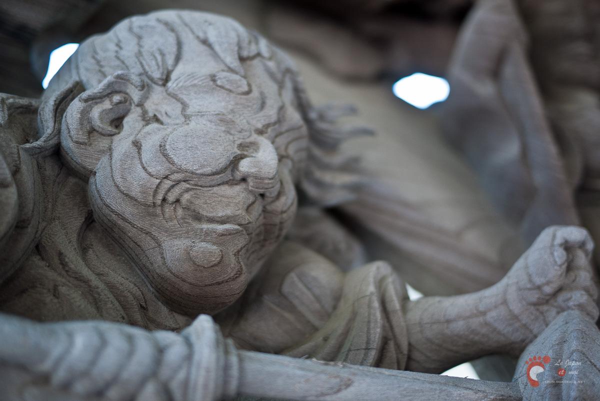 Temple Ryûkô-ji - Détails de la porte
