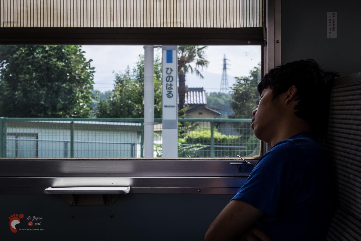 Dans le train vers Matsumoto