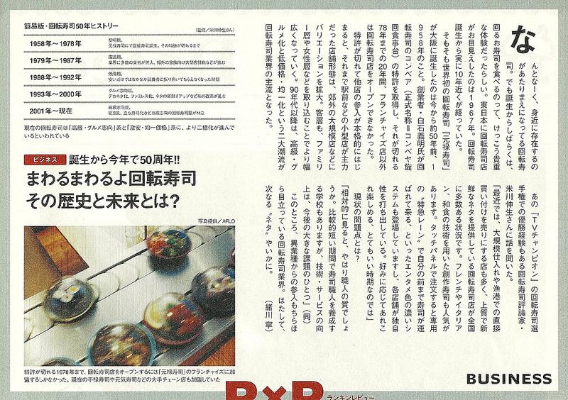 Article Kaiten-zushi